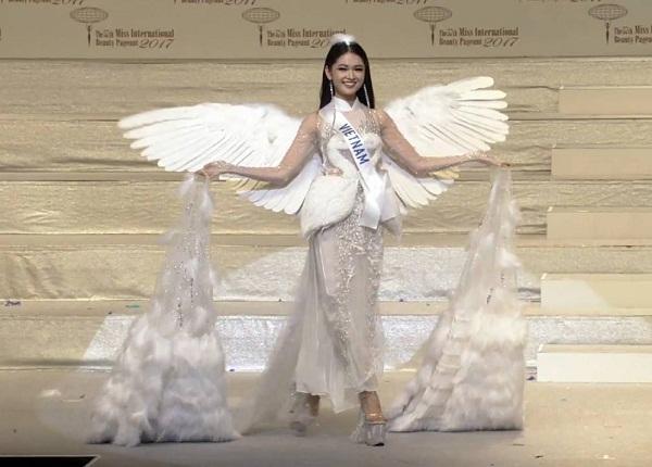 Thùy Dung trượt top 15 mỹ nhân đẹp nhất chung kết Miss International 2017-2