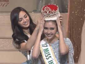 Cận cảnh nhan sắc tuyệt mỹ của người đẹp Indonesia đăng quang Hoa hậu Quốc tế 2017