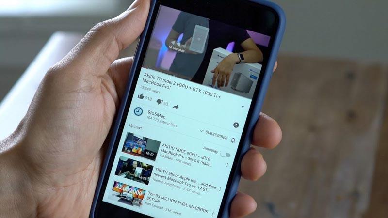 Ứng dụng YouTube gây hao pin nghiêm trọng ở iPhone chạy iOS 11-1