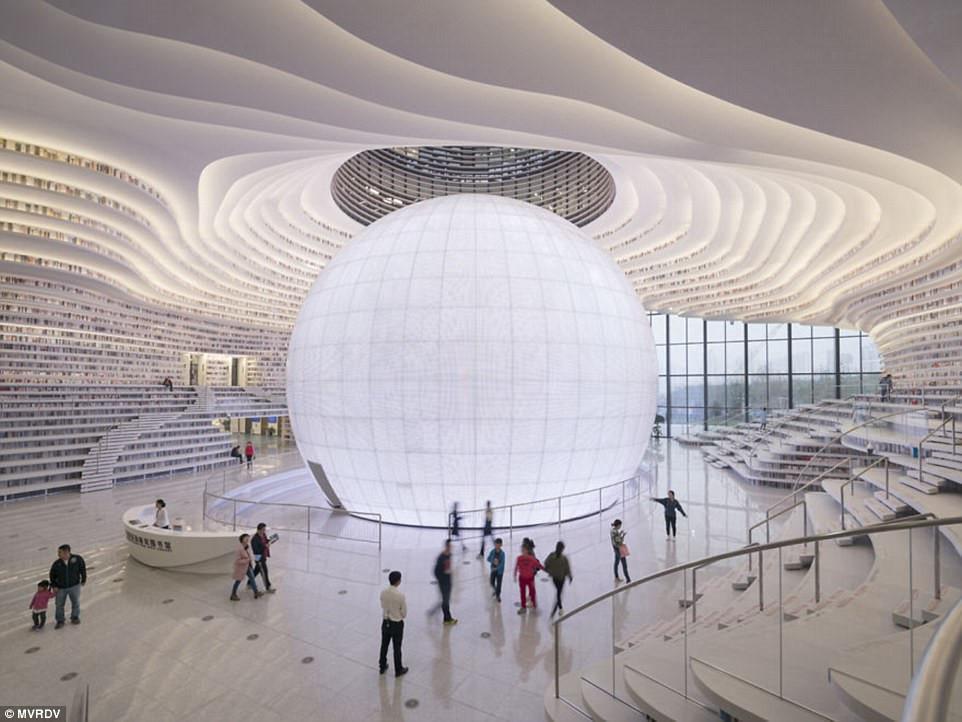 Thư viện khổng lồ chứa 1,2 triệu cuốn sách ở Trung Quốc-1