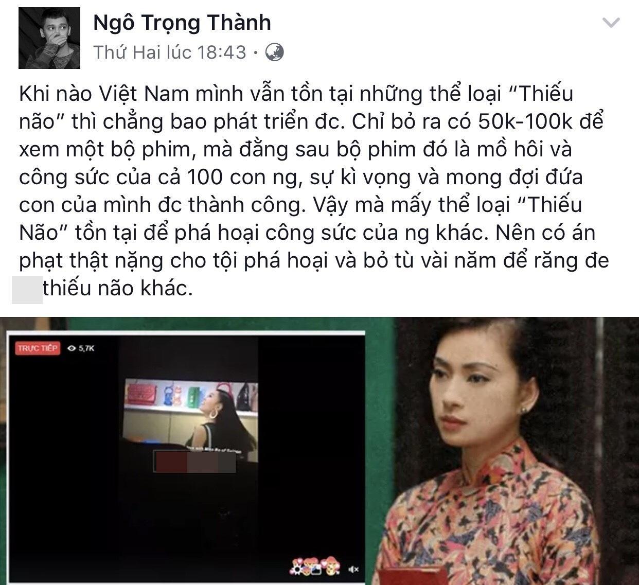 Trấn Thành và dàn sao Việt ủng hộ Ngô Thanh Vân xử tới bến kẻ livestream lén-3