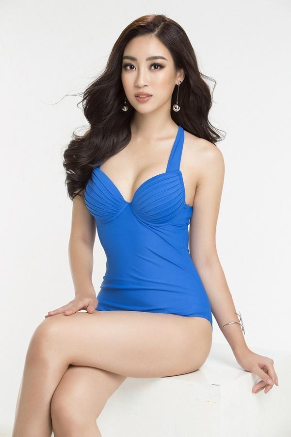 Đỗ Mỹ Linh diện bikini khoe đường cong nóng bỏng trước chung kết Miss World 2017-2