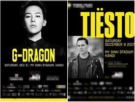 Xôn xao về poster thông báo G-Dragon (Big Bang) diễn tại Hà Nội vào tháng 12
