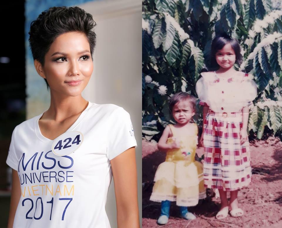 Đọ nhan sắc thời em chưa 18 của dàn thí sinh Hoa hậu Hoàn vũ Việt Nam 2017-8
