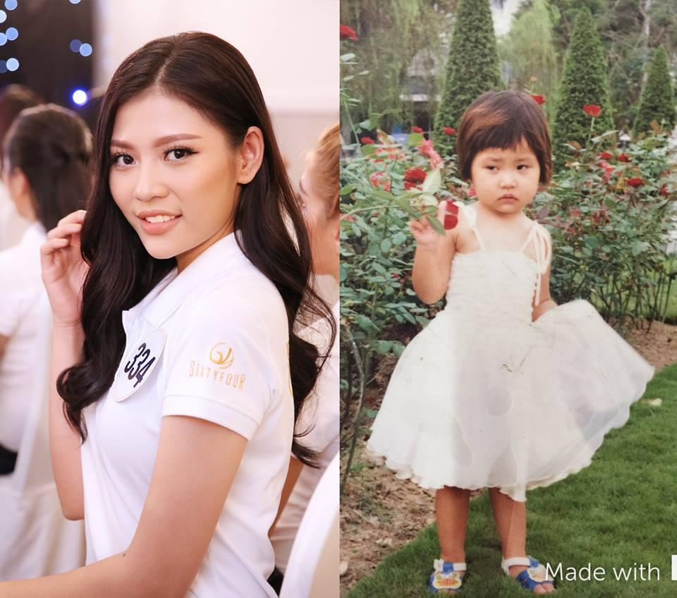 Đọ nhan sắc thời em chưa 18 của dàn thí sinh Hoa hậu Hoàn vũ Việt Nam 2017-7
