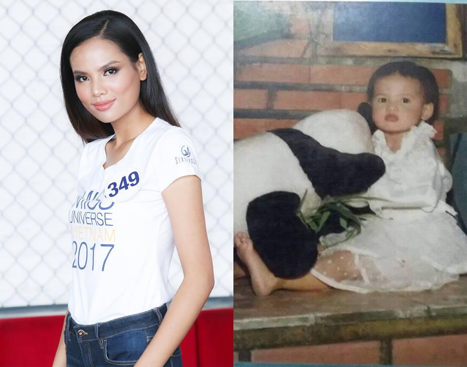 Đọ nhan sắc thời em chưa 18 của dàn thí sinh Hoa hậu Hoàn vũ Việt Nam 2017-9