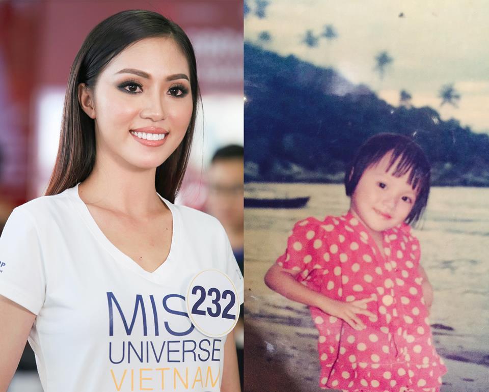 Đọ nhan sắc thời em chưa 18 của dàn thí sinh Hoa hậu Hoàn vũ Việt Nam 2017-10