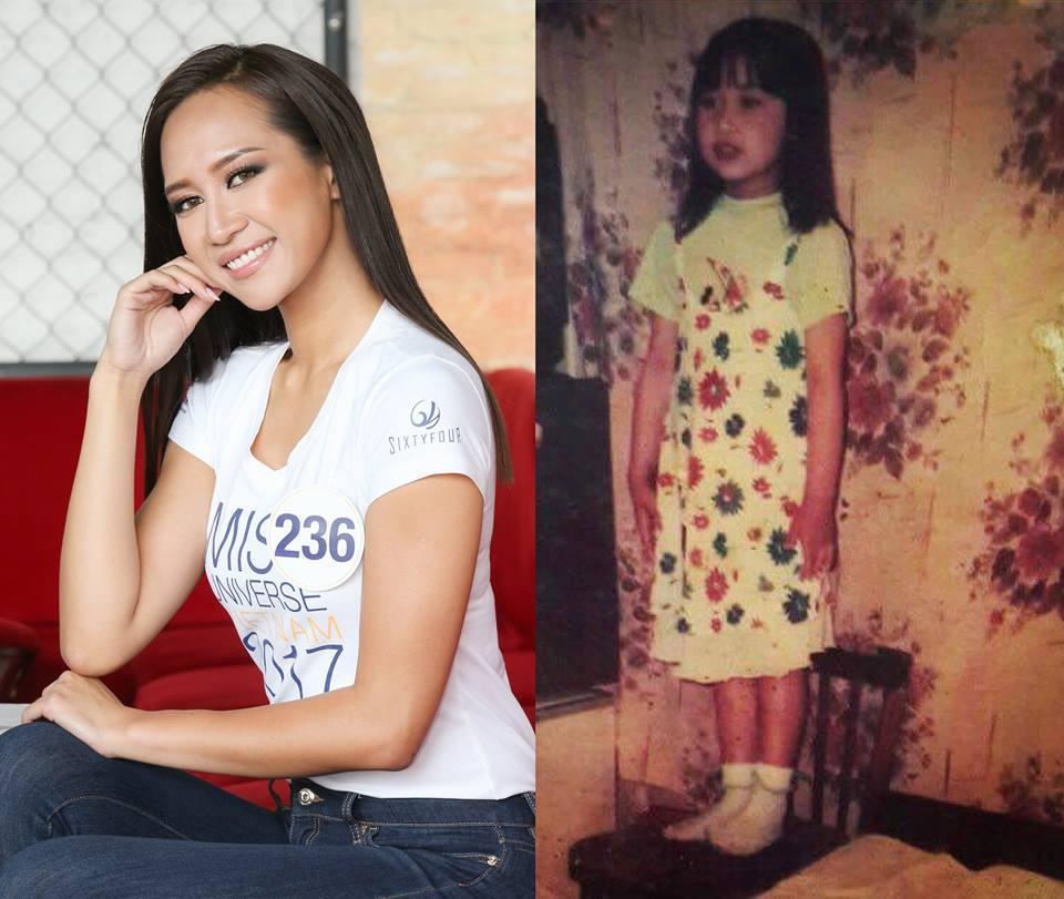 Đọ nhan sắc thời em chưa 18 của dàn thí sinh Hoa hậu Hoàn vũ Việt Nam 2017-11