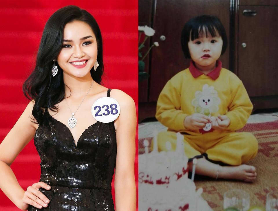 Đọ nhan sắc thời em chưa 18 của dàn thí sinh Hoa hậu Hoàn vũ Việt Nam 2017-14
