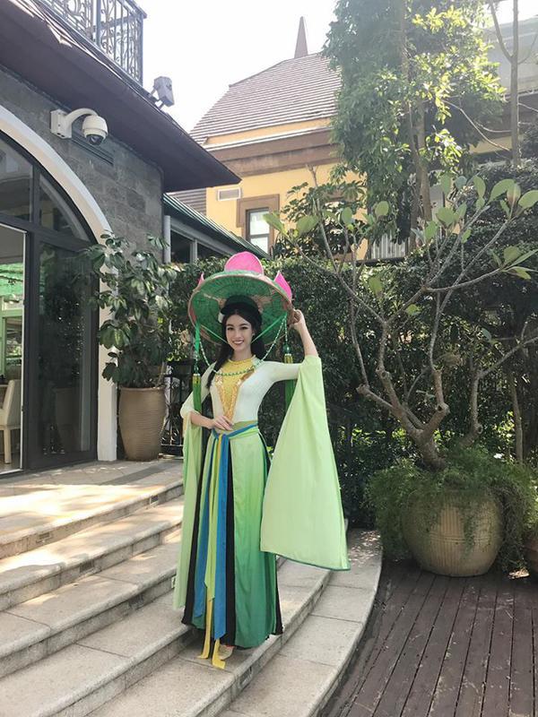 Hé lộ hình ảnh đầu tiên về trang phục dạ hội Đỗ Mỹ Linh sẽ diện trong đêm chung kết-8