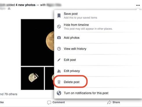 3 cách xóa status, hình ảnh trên Facebook khi nút 'Delete' không còn