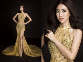 Đầm dạ hội ánh hoàng kim sẽ giúp Đỗ Mỹ Linh toả sáng như 'Nữ hoàng'
