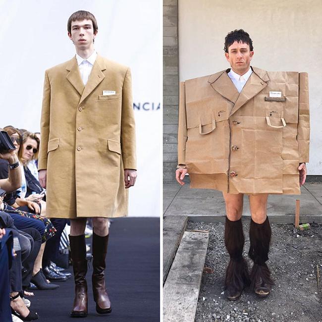 Chàng trai nhại người nổi tiếng với thời trang cây nhà lá vườn-10
