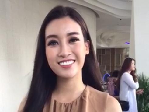 CLIP ĐỘC QUYỀN: Đỗ Mỹ Linh chào khán giả quê nhà và hy vọng đi sâu trong chung kết Miss World 2017
