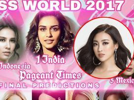 Đỗ Mỹ Linh góp mặt trên các bảng xếp hạng sắc đẹp sát giờ chung kết Miss World 2017