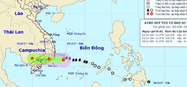 Bão số 14 suy yếu thành áp thấp nhiệt đới, nhiều nơi mưa to-1