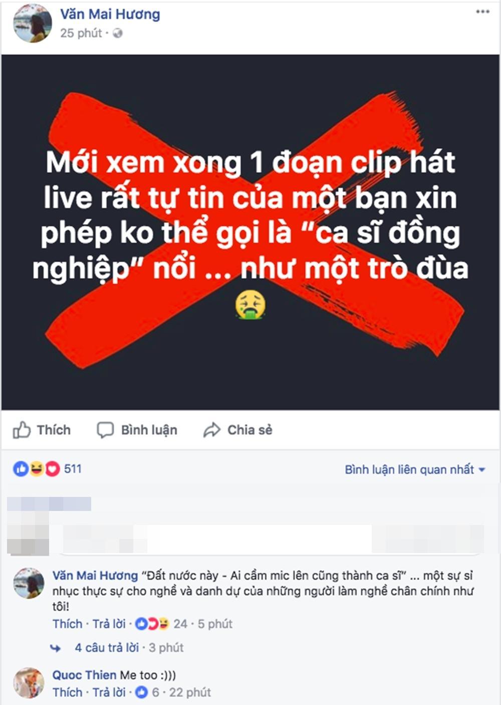 Văn Mai Hương bức xúc khi bị fan Chi Pu nhắn tin dọa giết