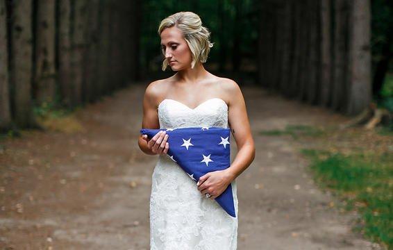 Câu chuyện đau lòng phía sau bộ ảnh cưới chỉ một mình cô dâu-2