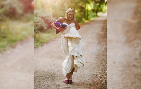 Câu chuyện đau lòng phía sau bộ ảnh cưới chỉ một mình cô dâu-5