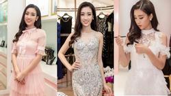 Đỗ Mỹ Linh tận dụng đầm chưa mặc ở Hoa hậu Thế giới để dự sự kiện
