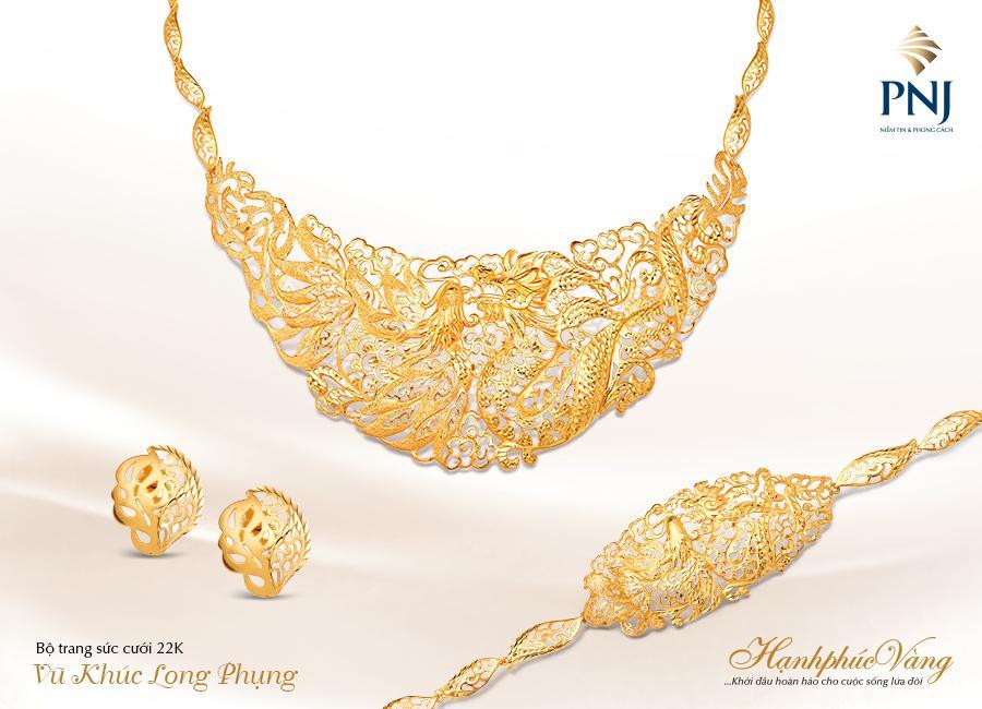 PNJ giới thiệu Trang sức cưới Hạnh Phúc Vàng-5