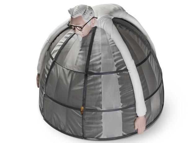 Lều trốn tránh Internet kì lạ giá 10.000 USD của KFC