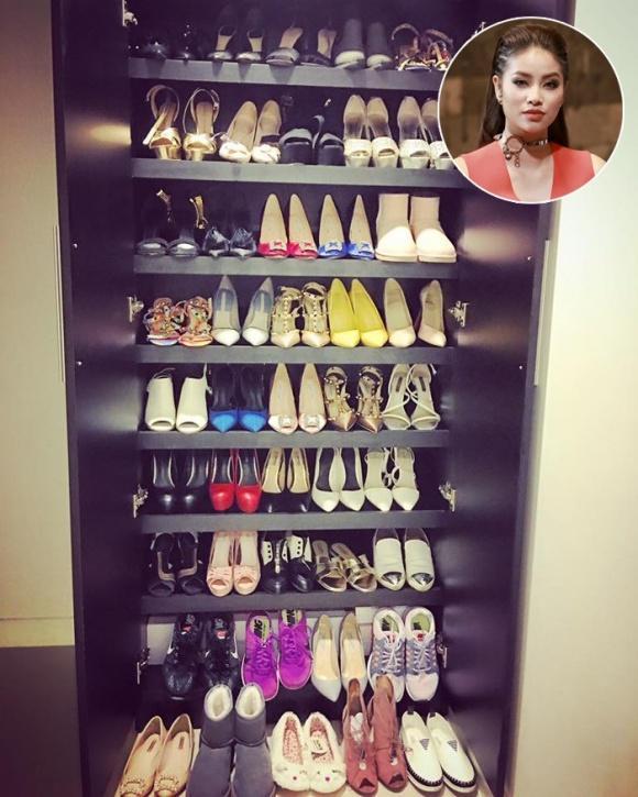 Đến lượt Phạm Hương khoe tủ giày hiệu gần 100 đôi hoành tráng-3