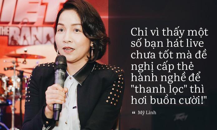 Diva Mỹ Linh: Chỉ vì thấy một số bạn hát live chưa tốt mà đề nghị cấp thẻ hành nghề để thanh lọc thì hơi buồn cười!-1