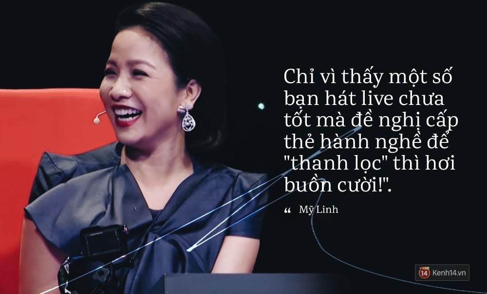 Diva Mỹ Linh: Chỉ vì thấy một số bạn hát live chưa tốt mà đề nghị cấp thẻ hành nghề để thanh lọc thì hơi buồn cười!-3