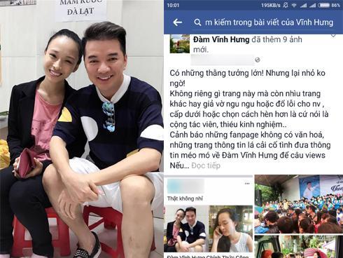 Rộ tin hẹn hò Hoa hậu Phương Nga, Đàm Vĩnh Hưng cảnh cáo fanpage lá cải giật tít câu view