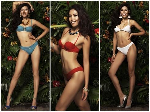 Nguyễn Thị Loan diện bikini khoe cơ bụng săn chắc trước thềm chung kết Miss Universe 2017