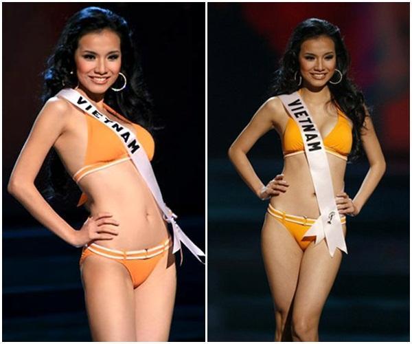 Cùng diễn bikini tại sân khấu Hoa hậu Hoàn vũ Thế giới, mỹ nhân Việt nào catwalk ấn tượng nhất?-3