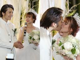 Cô dâu Khởi My hôn chú rể Kelvin Khánh say đắm trong đám cưới