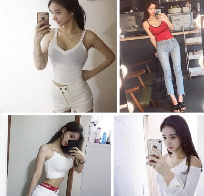 Cô bạn xinh đẹp Hàn Quốc gây chú ý với vòng 1 đẫy đà bị nghi phẫu thuật thẩm mỹ-3