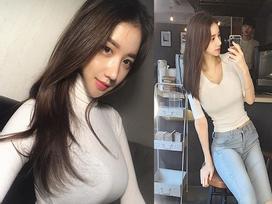 Cô bạn xinh đẹp Hàn Quốc gây chú ý với vòng 1 đẫy đà bị nghi phẫu thuật thẩm mỹ