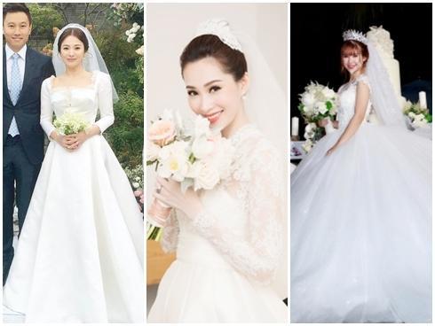 Ai là mỹ nhân diện váy cưới xuất sắc nhất trong đám cưới tháng 10 cổ tích?