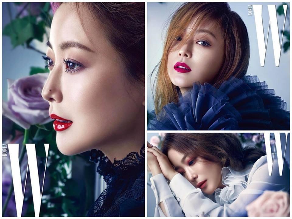Sao Hàn 24/11: Lee Min Jung, Kim Hee Sun đọ sắc trên tạp chí-1