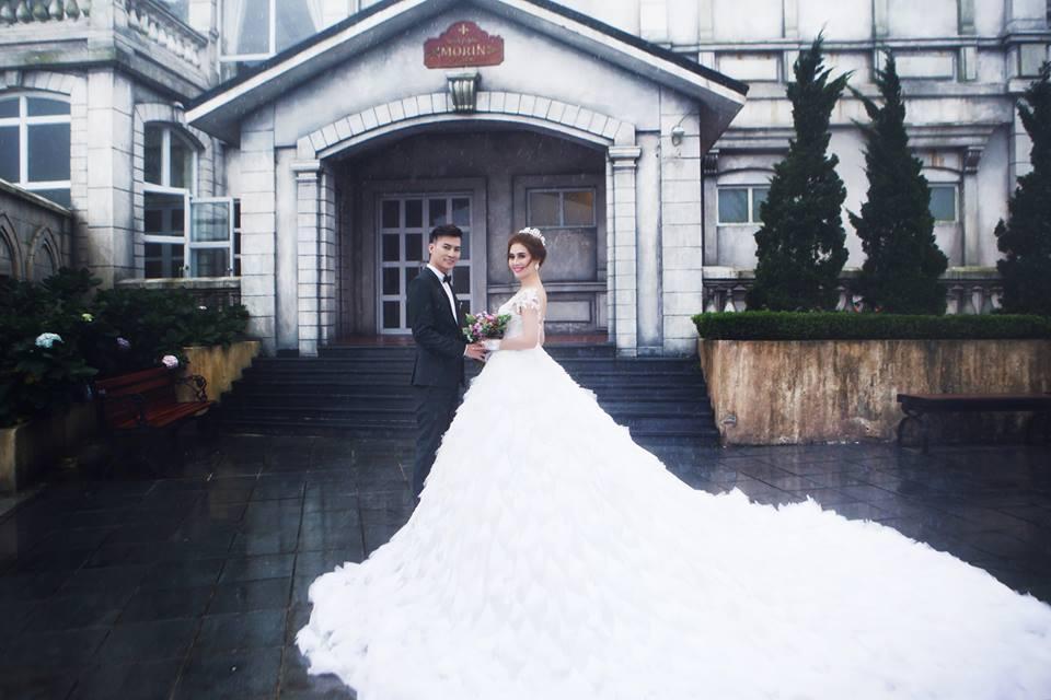 Ngắm bộ ảnh cưới lãng mạn trên biển của Lâm Khánh Chi và chồng trẻ-10