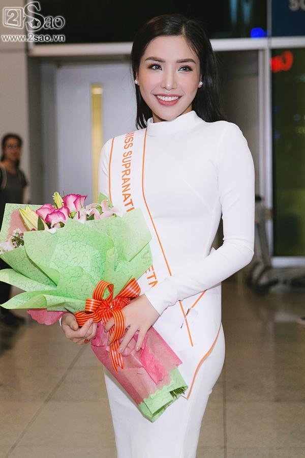 Á hậu Khánh Phương bịn rịn chia tay bố mẹ lên đường đi thi Hoa hậu Siêu quốc gia-1