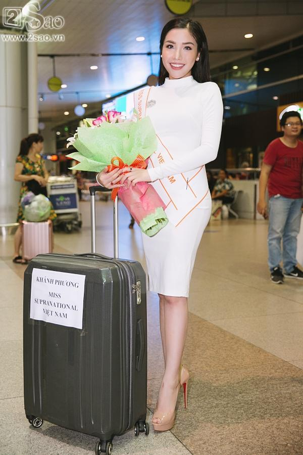 Á hậu Khánh Phương bịn rịn chia tay bố mẹ lên đường đi thi Hoa hậu Siêu quốc gia-2