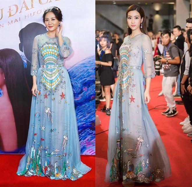 Đụng hàng váy với Hoa hậu Đỗ Mỹ Linh, nhưng Văn Mai Hương lại trông già hơn hẳn vì chọn nhầm phụ kiện kiểu... quý bà-5