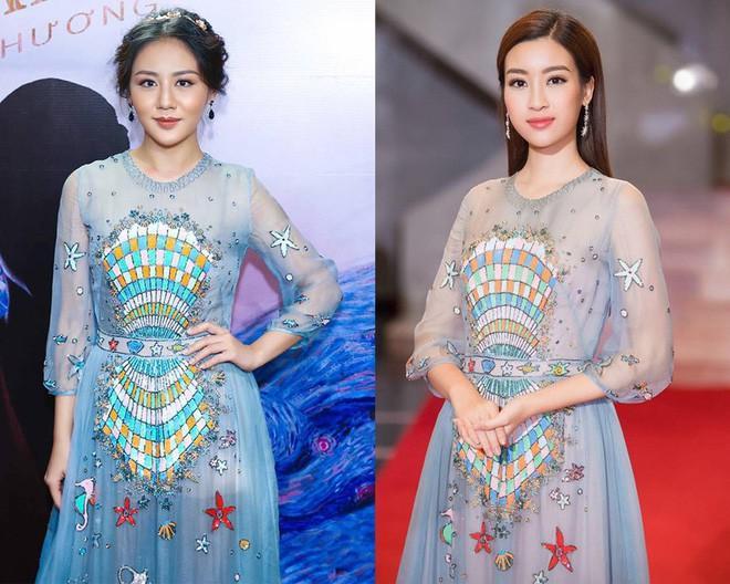 Đụng hàng váy với Hoa hậu Đỗ Mỹ Linh, nhưng Văn Mai Hương lại trông già hơn hẳn vì chọn nhầm phụ kiện kiểu... quý bà-6