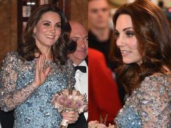 Công nương Kate Middleton thể hiện đẳng cấp, khoe bụng bầu 4 tháng đẹp xuất chúng
