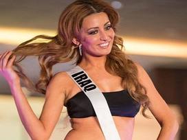 Hoa hậu Hoàn vũ Iraq mặc bikini, gia đình bị dọa giết