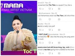 Fan quốc tế rần rần khen tiết mục mở màn MAMA 2017 của Tóc Tiên
