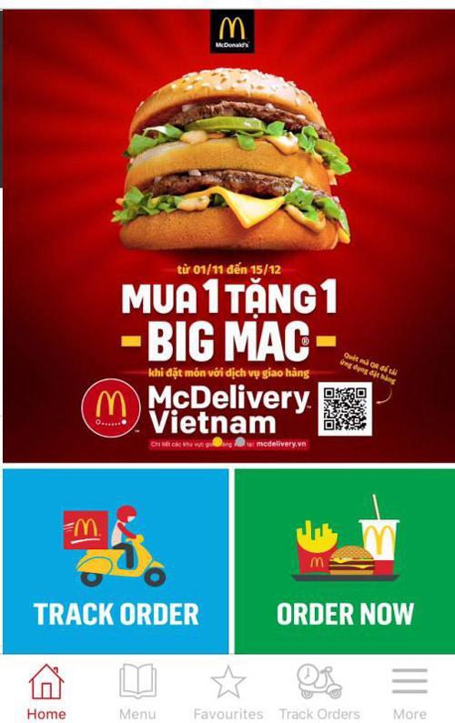 McDonald's có dịch vụ giao hàng 24/7-2
