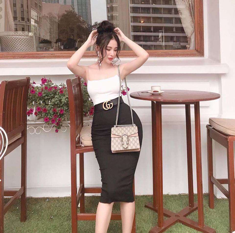 Angela Phương Trinh diện đồ bó sát khoe hông quả táo nổi bật nhất street style sao Việt tuần này-1