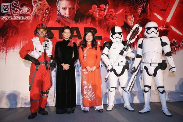 Ngô Thanh Vân và sao gốc Việt của Star Wars khoe sắc cùng áo dài-3
