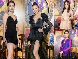 Giữa dàn mỹ nhân Việt ai nấy diện áo dài, Ngọc Trinh một mình mặc váy ngắn 'lạc quẻ'