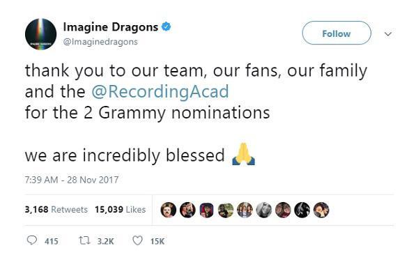 Lady Gaga, Lana Del Rey và loạt sao phản ứng trước đề cử Grammy 2018-8